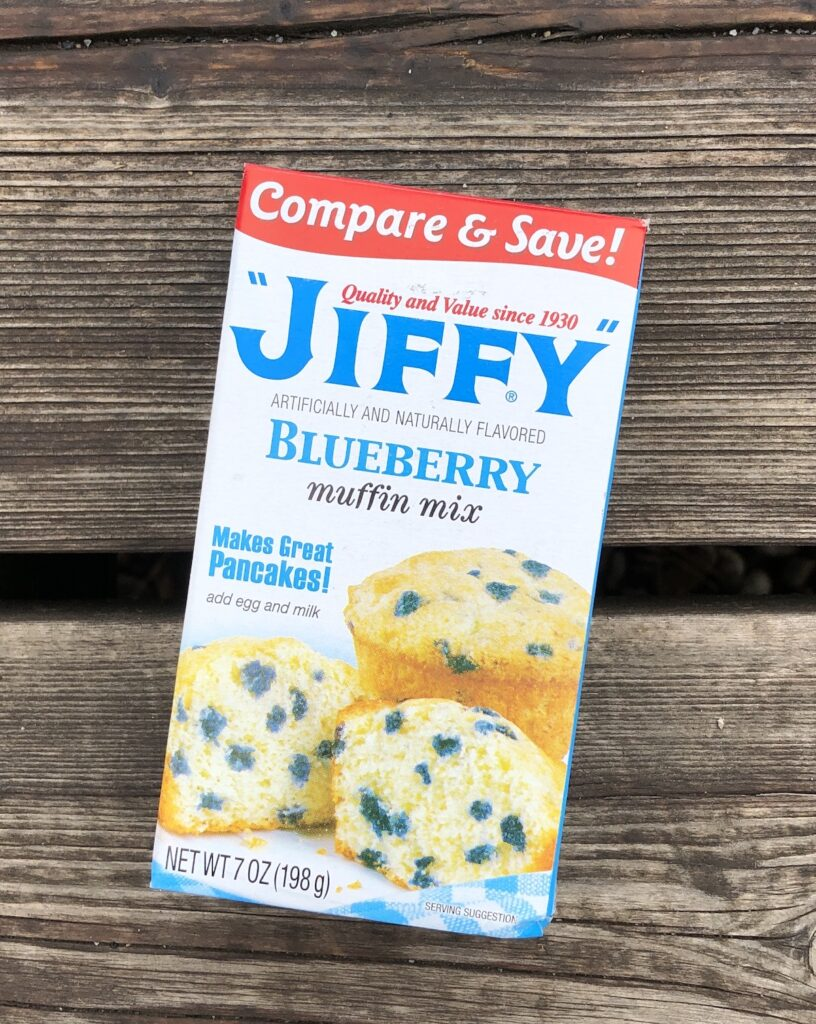 blueberry jiffy mix for camping food