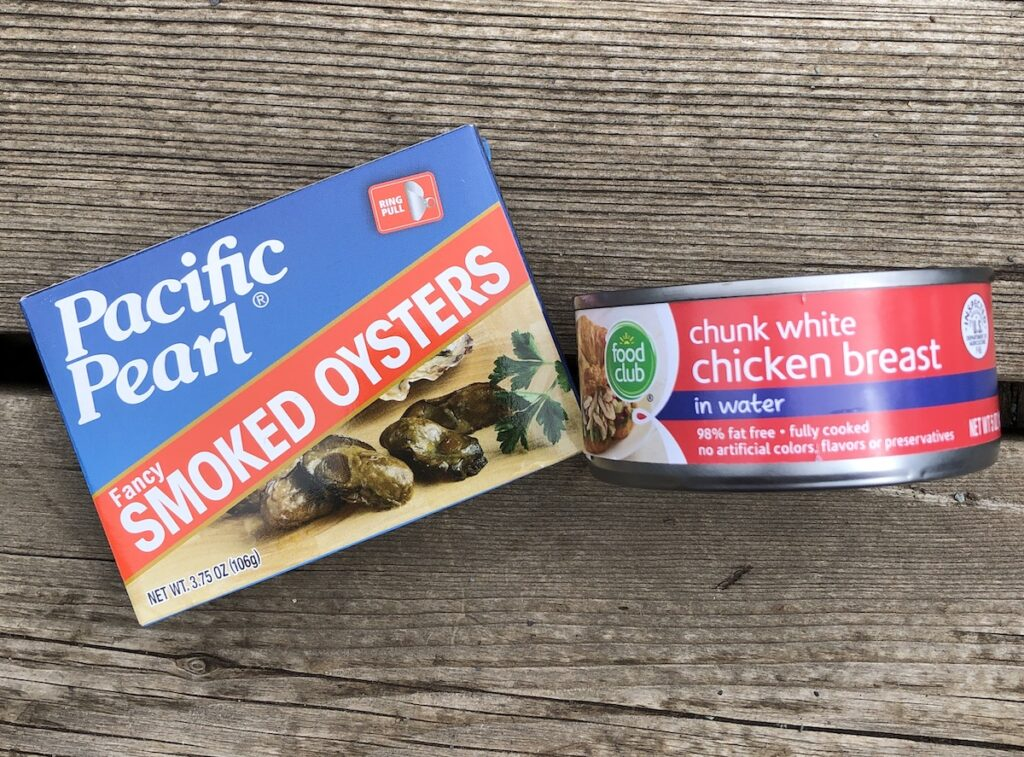 canned meats for camping meals