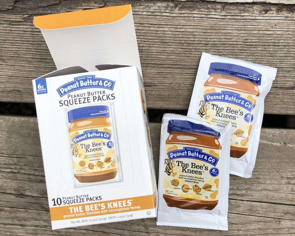 individual packs of peanut butter for camping and backpacking