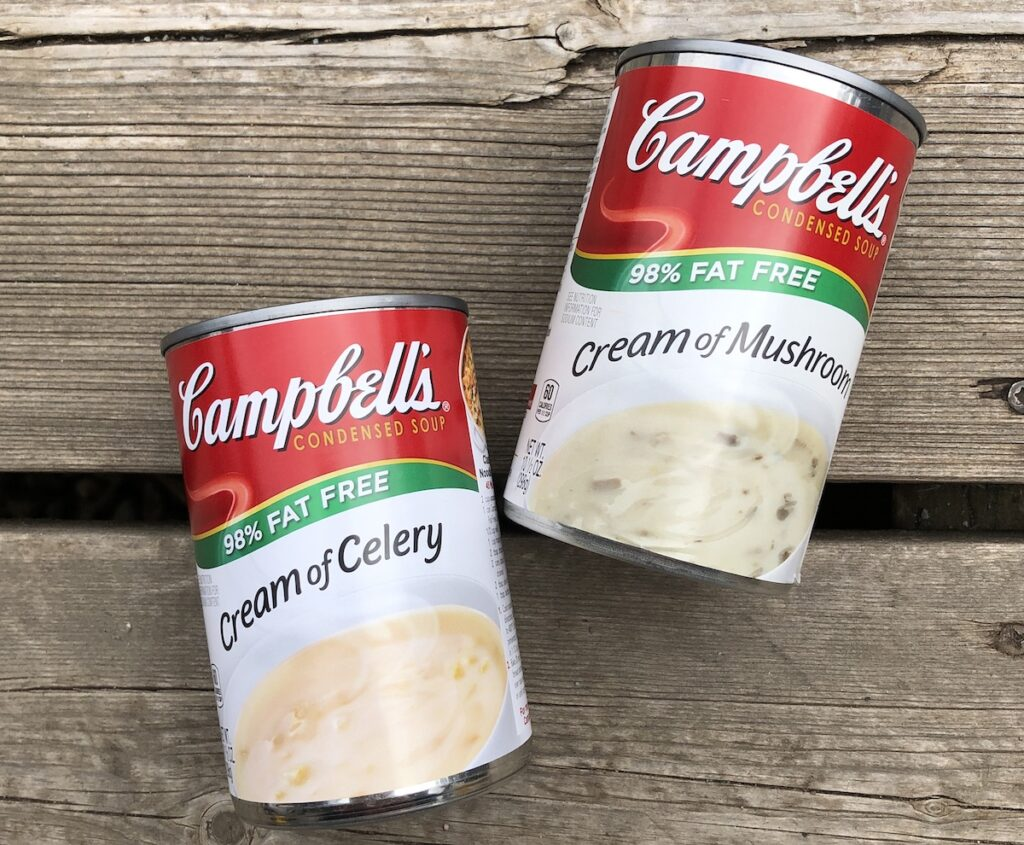canned soup for a quick camping meal