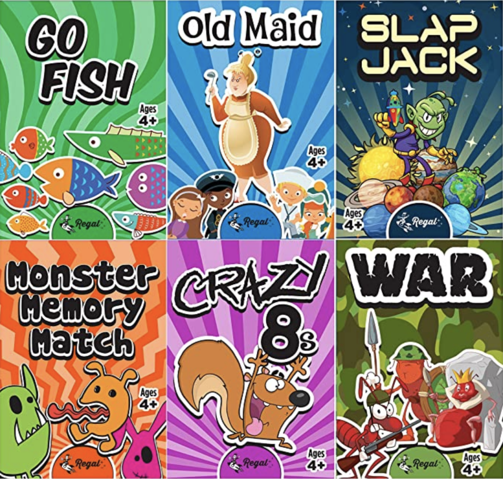 card camping games for kids