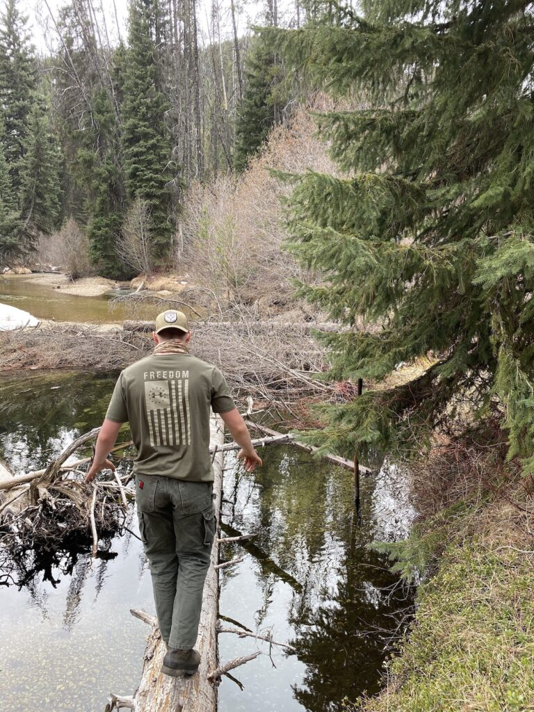 finding a fishing hole for willow branch fishing