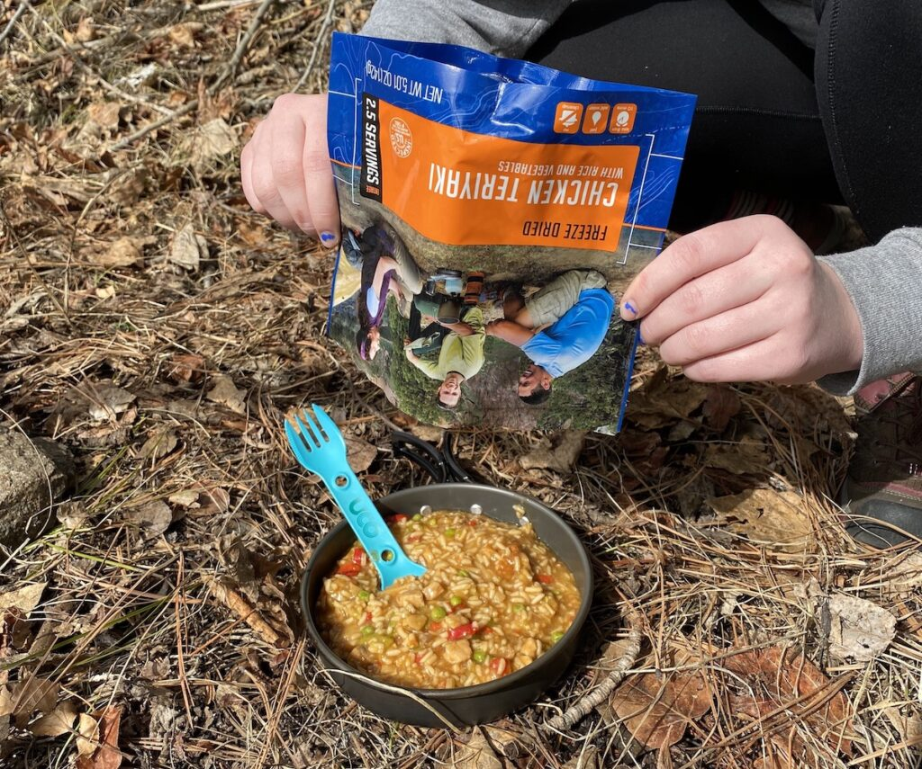 dehydrated meals for camping food