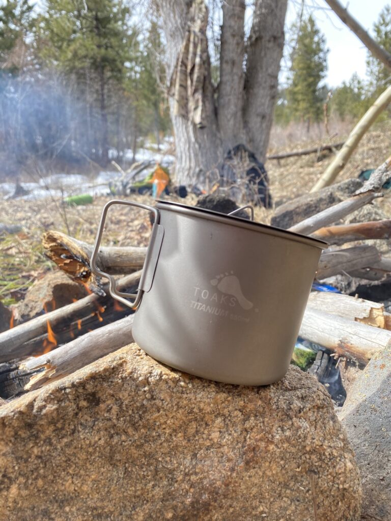 backcountry cooking pot and cup toaks