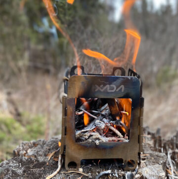 backpacking stove for hiking or camping