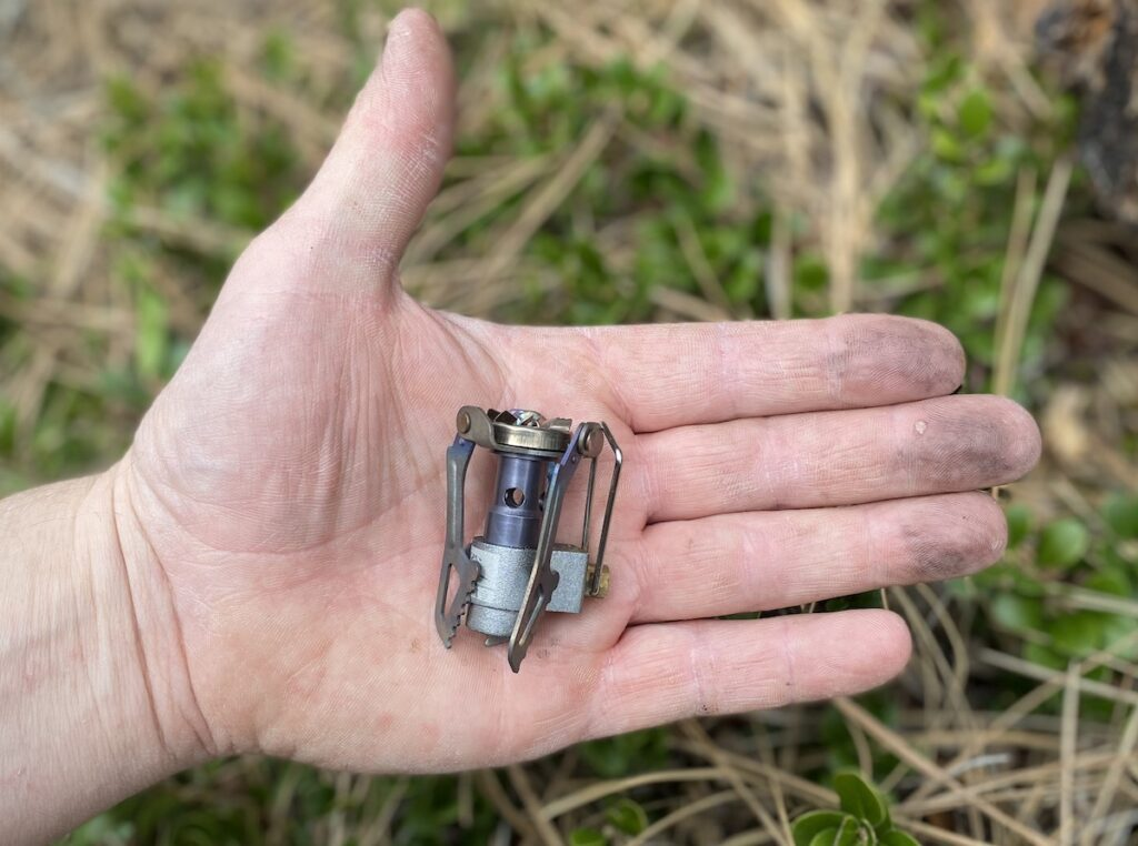 tiny compact gas stove for camping