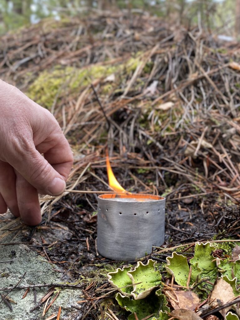 easy to light denatured alcohol stove