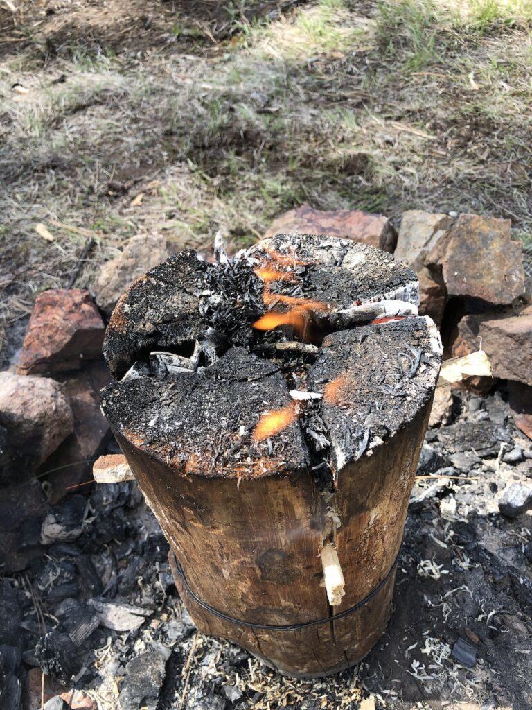burning swedish torch