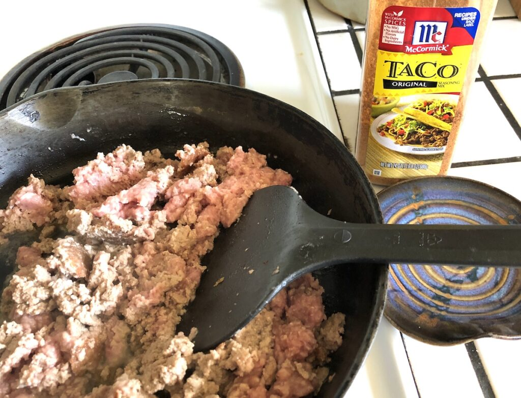 precook your meat to cut down on mess and make camping cleaner
