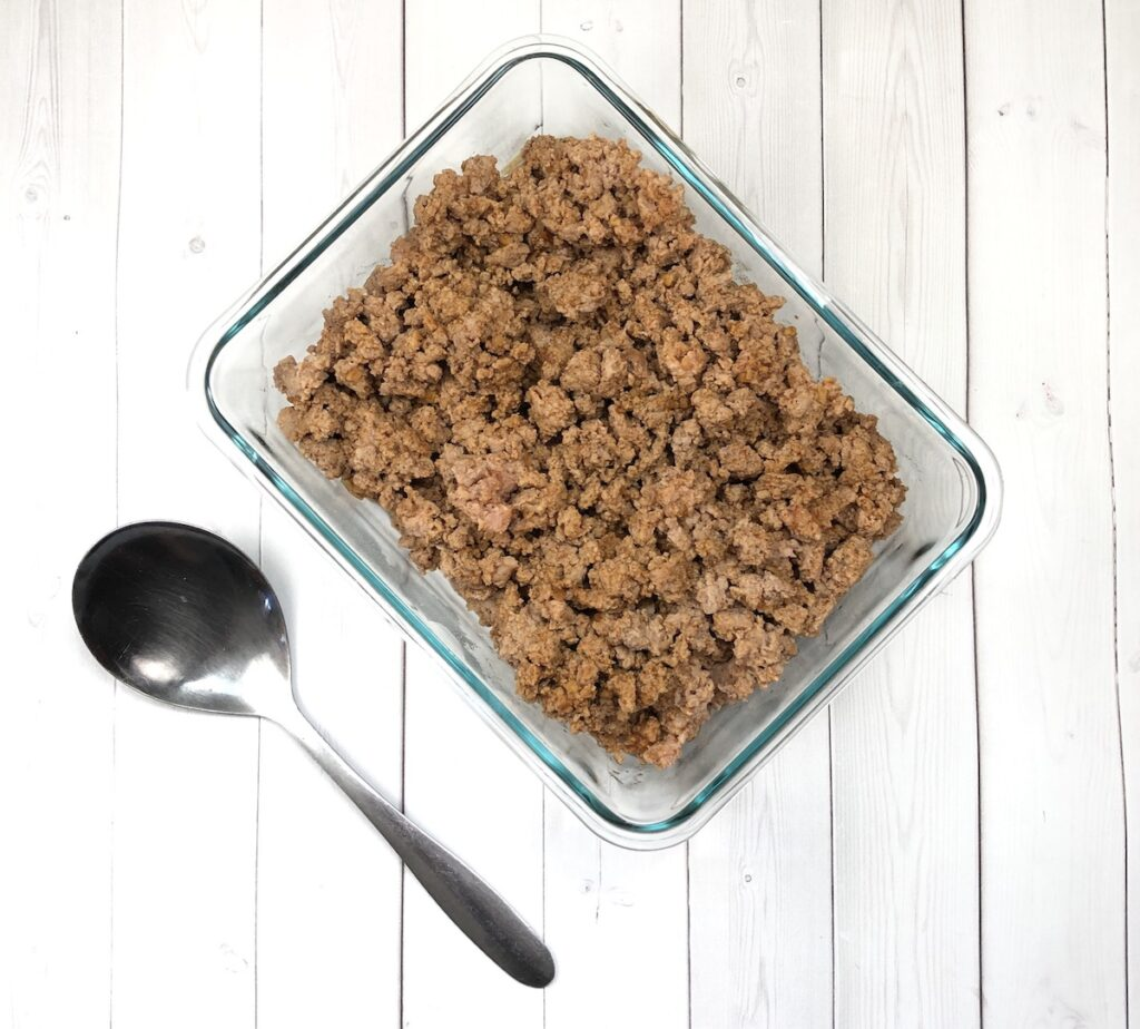 precooked taco meat for your camping trip