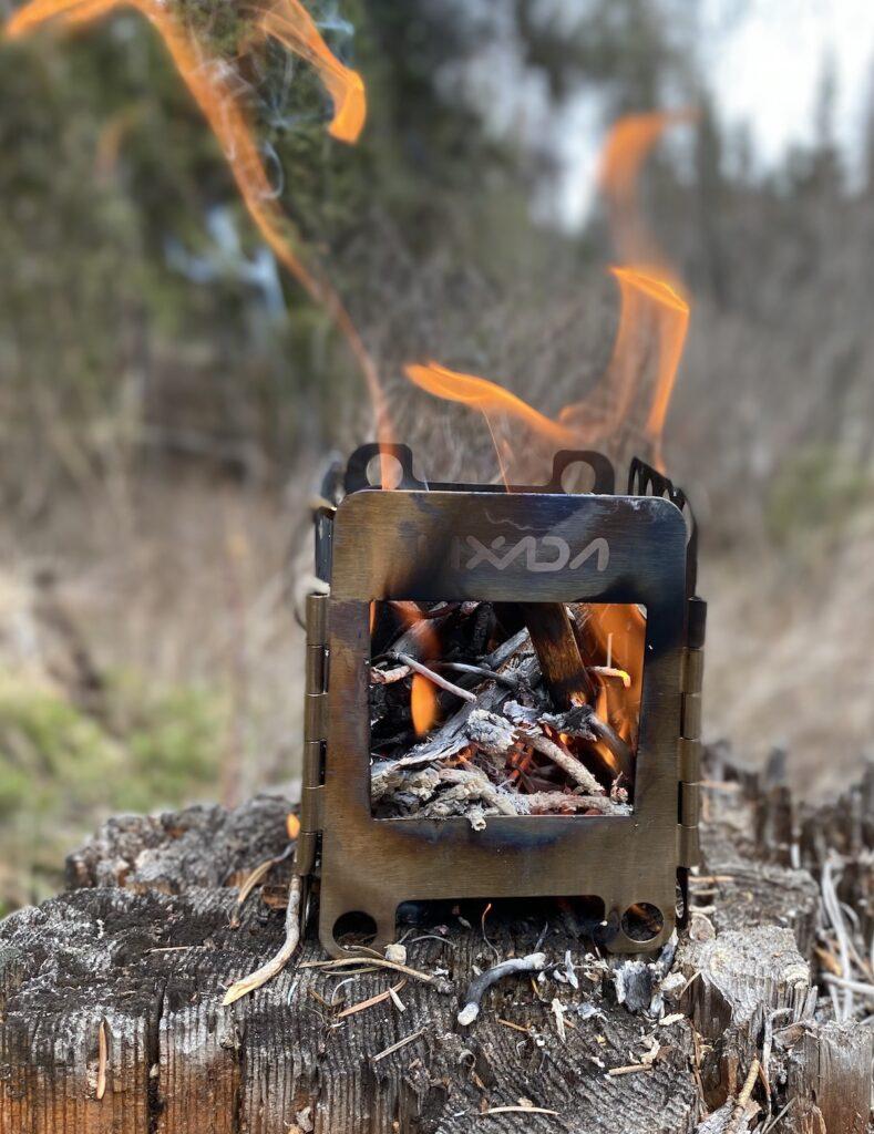 wood burning small camping stove