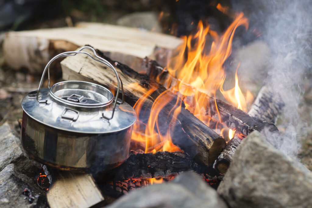 best campfire coffee pot for camping and hot water