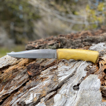 handmade bushcraft knife