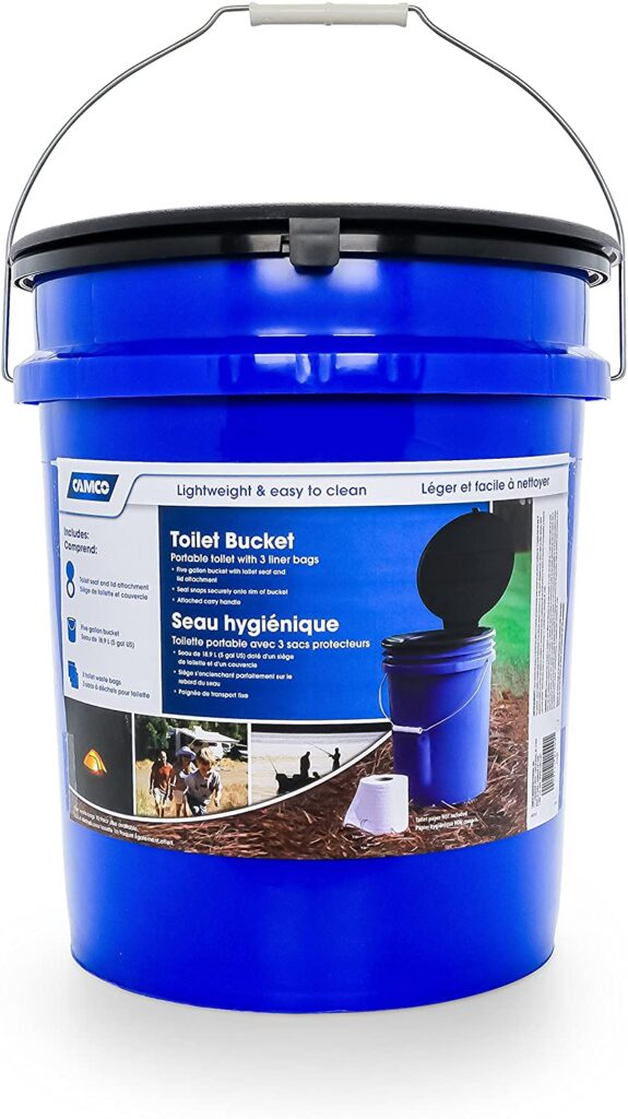 bucket toilet for camping