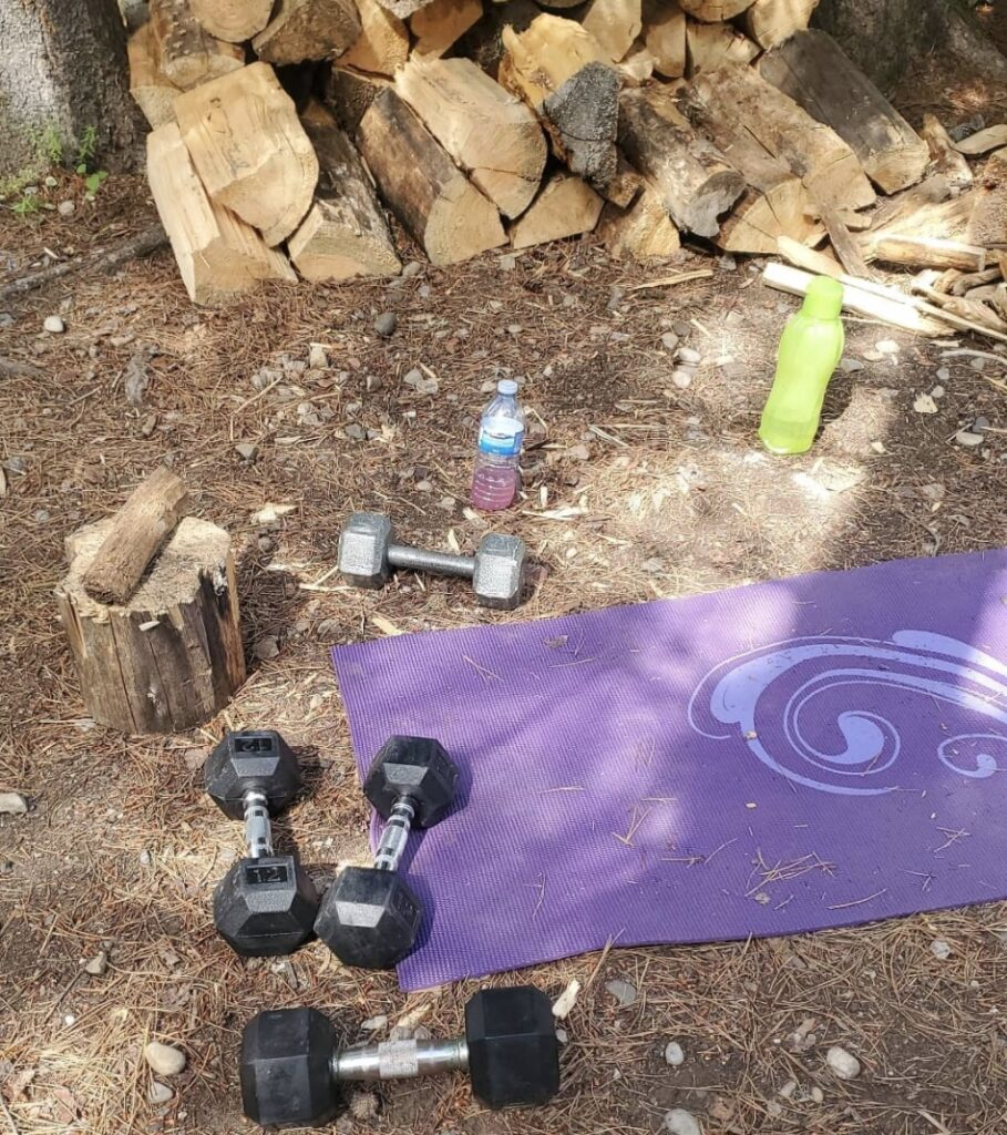 camping workout while rving
