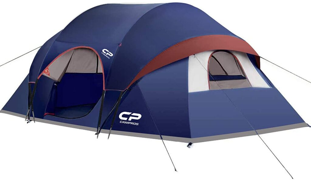 camppros 9 person camping tent portable