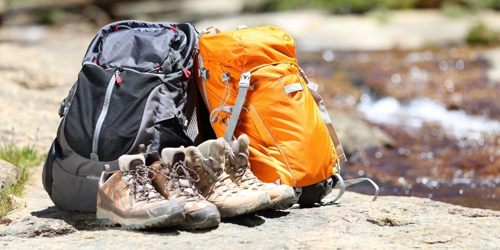 Two hiking backpacks