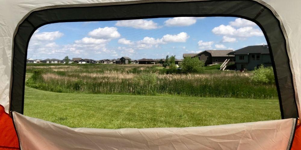 open tent window